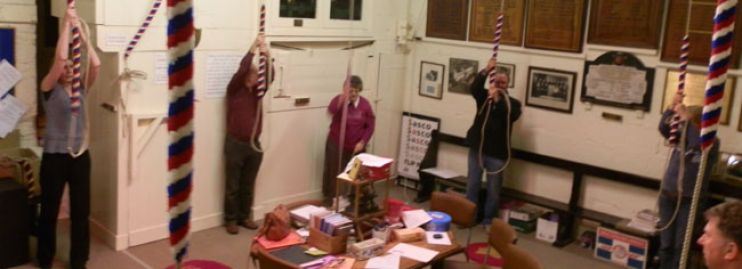 Bell ringers at Christchurch Priory